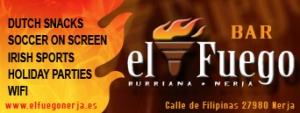 Bar El Fuego, Calle Filipinas, Playa Burriana, Nerja