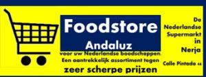 FoodStore Andaluz, uw Nederlandse supermarkt in Nerja. Calle Pintada