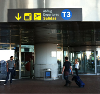 Ingang vliegveld van Málaga