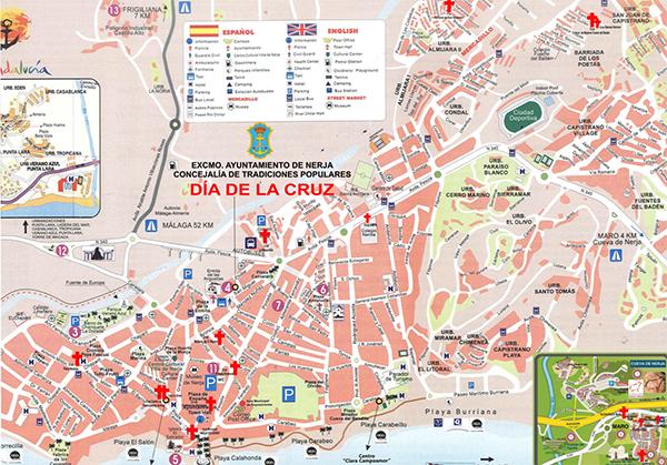 Nerja Dia de la Cruz kaart mini