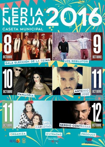 Nerja Feria 2016 hoofdacts