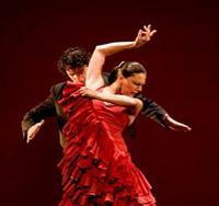 Paco Pena and the flamenco dance company.