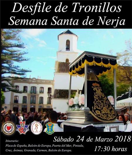 Nerja Semana Santa Desfile Tronillos