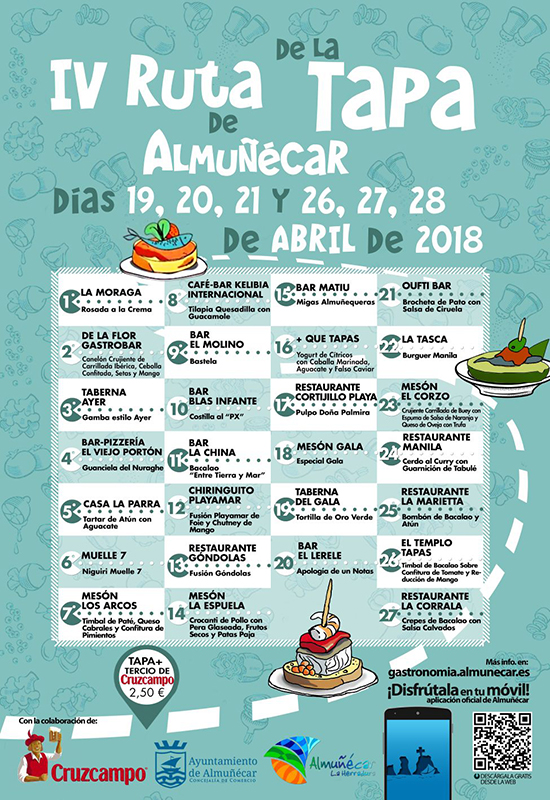 Almunecar Tapasroute 2018a