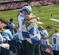 Malaga fans vreugde verdriet