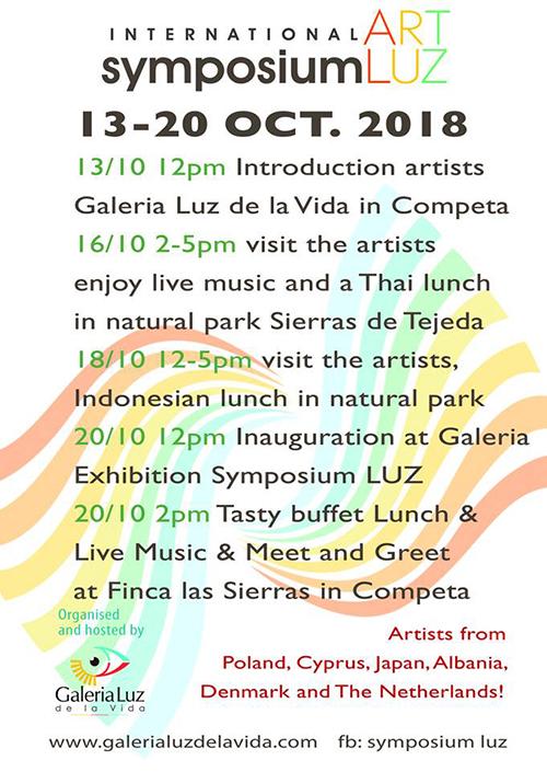 Competa Galeria Luz de la Vida Symposium 2018