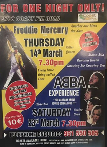 Nerja Fitzgeralds Abba Experience