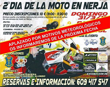 Nerja Dia de la Moto uitgesteld