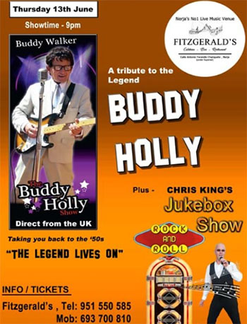 Nerja Fitzgeralds Buddy Holly Tribute