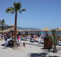 Zon strand Nerja