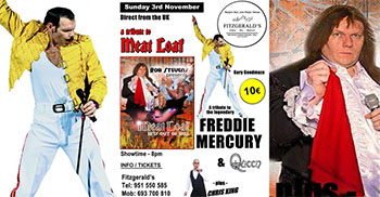 Nerja Fitzgeralds MeatLoaf en Freddie Mercury
