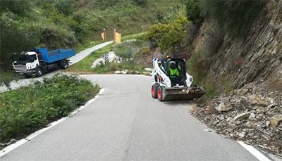 Nerja wegwerkzaamheden langs Rio de Miel